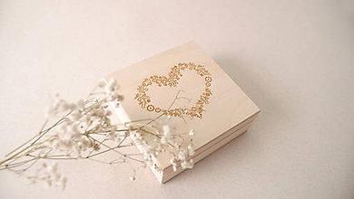 Prstene - Drevená krabička na obrúčky personalizovaná - 9455631_