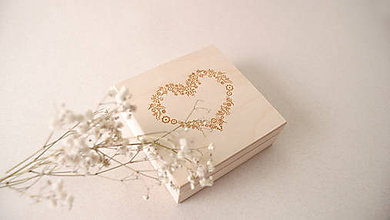 Krabičky - Drevená krabička na obrúčky personalizovaná - 9455631_
