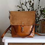 - Kožený batoh Lara (koňakový-hnedý) - 9456424_