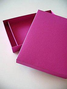 Krabičky - jednoduchá krabička s priečinkom - 9457181_