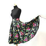 Sukne - MARÍNA - kruhová kvetinová sukňa - 9456586_