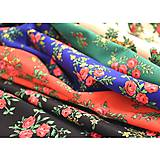 Sukne - MARÍNA - kruhová kvetinová sukňa - 9456727_