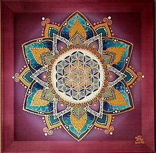 Obrazy - Posvätný kvet života...Poznanie - 9458840_