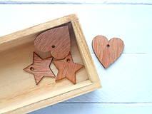 Polotovary - drevený výrez hviezda/srdce - 9456536_