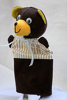 Hračky - Maňuška. Zvieratko Medvedík Brumko v pyžamku - 9455632_