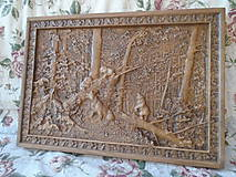 Obrazy - drevorezba - Medvedíci - 9458068_
