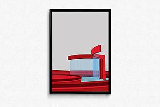 Grafika - Autorská grafika Veľryba - 9456481_