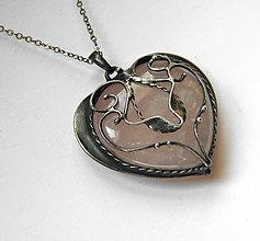 Náhrdelníky - cínový šperk - Srdiečko filigránové - - 9457368_
