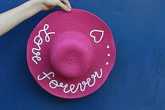 Čiapky - Letný detský klobúk cyklamenovej farby - 9457502  a5b85551459