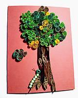 Papiernictvo - Pohľadnica Strom s húseničkou Julkou :) - 9458248_