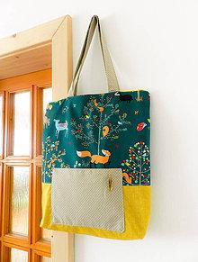 Veľké tašky - Líška v lese - 9456134_