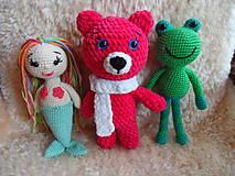 Hračky - Modrooká medvedica Zlatka :-) - 9455761_