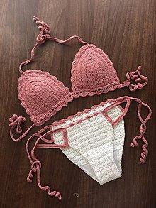 Bielizeň/Plavky - Hačkované bikini - 9457117_