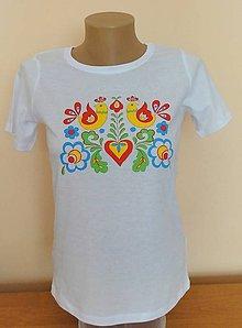 Tričká - Detské maľované tričko folklor - 9457899_