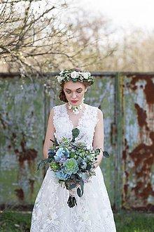 Kytice pre nevestu - Greenery svadobná kytica