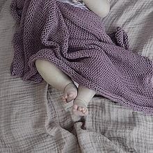 Textil - Detská dečka...starofialová - 9458163_
