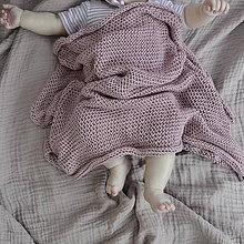 Textil - Detská dečka...staroružová - 9458367_