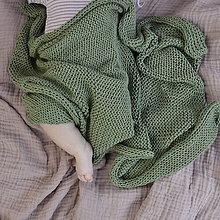 Textil - Destká dečka...olivová - 9458388_