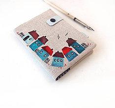 Papiernictvo - Zápisník Domčeky modré - A6 - 9455369_