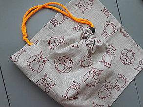 Nákupné tašky - Plátené vrecko na chlieb ,,Múdra sova šetrí svoje prostredie,, - 9457035_