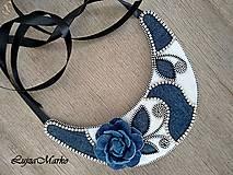 Náhrdelníky - Denim náhrdelník - 9457352_
