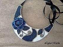 Náhrdelníky - Denim náhrdelník - 9457357_