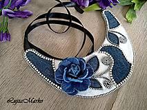 Náhrdelníky - Denim náhrdelník - 9457359_