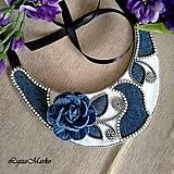 Náhrdelníky - Denim náhrdelník - 9457360_