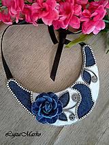 Náhrdelníky - Denim náhrdelník - 9457361_