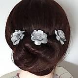 Ozdoby do vlasov - Ružičky do vlasov - 9458628_