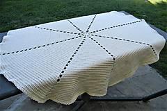 Úžitkový textil - Háčkovaná dečka-maslová- osemuholník - 9457503_