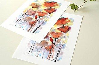 Grafika - Divé maky, akvarel výtlačok (print) - 9453756_