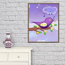 Grafika - (poštovné zdarma) Vtáčik 5 - digitálna grafika - 9457200_