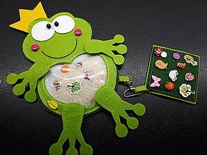 Detské doplnky - Spy bag žabka (Spy bag žabka s korunkou -ryža) - 9460499_