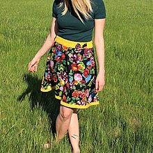 Sukne - Kvetová sukňa - 9462295_