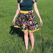 Sukne - Kvetová sukňa - 9462296_