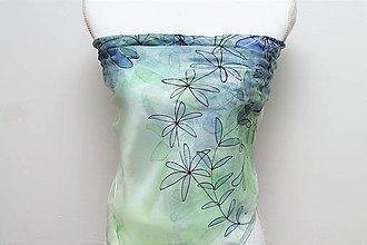 Šatky - Letný súMrak - maľovaná hodvábna šatka - 9461070_