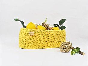 Košíky - Košík háčkovanec recy bavlnený Lime - 9460809_
