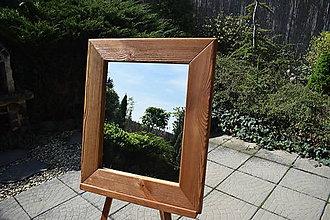 Zrkadlá - Zrkadlo v drevenom ráme - 9459545_