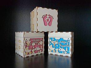 Krabičky - Krabička k narodeniu alebo krstu dieťatka - 9458968_