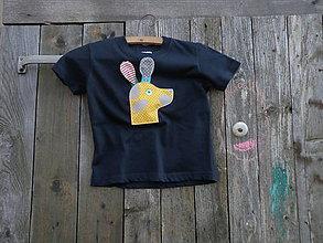 Tričká - Psíček - reflexné a pískacie detské tričko - 9459529_