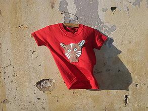Tričká - Mačička - reflexné a pískacie detské tričko - 9459613_