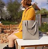 Veľké tašky - Kožená kabelka Sue (big bag červená) - 9459488_