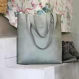Kožená kabelka Sue (big bag šedá)