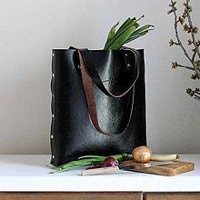 Veľké tašky - Kožená kabelka Sue (big bag tmavohnedá) - 9459439_
