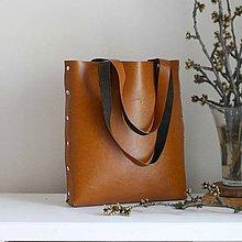 Veľké tašky - Kožená kabelka Sue (big bag koňaková hnedá) - 9459463_