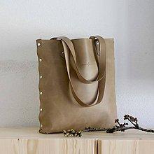 Veľké tašky - Kožená kabelka Sue (big bag béžová) - 9459507_
