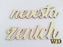Dekorácie - Nevesta Ženích - 9459410_