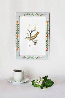 Rámiky - Maľovaný rámček - Halúzka - 9459602_