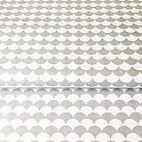 Textil - sivé vlnky; 100 % bavlna Francúzsko, šírka 160 cm, cena za 0,5 m - 9459671_
